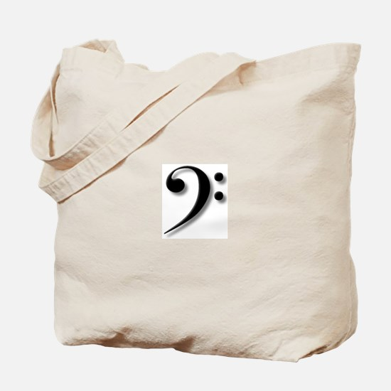 The Impressive Bass Clef Tote Bag