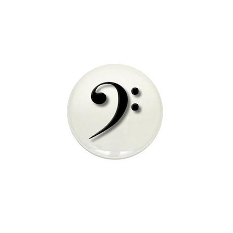 The Impressive Bass Clef Mini Button (100 pack)