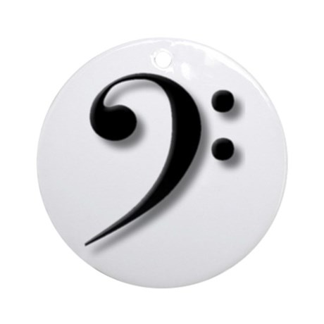 The Impressive Bass Clef Ornament (Round)
