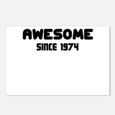 AWESOME SINCE 1974 Postcards (Package of 8)