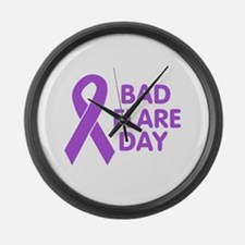 BadFlareDay Purple Ribbon Awareness Large Wall Clo