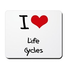 I Love Life Cycles Mousepad
