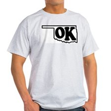 OK graphic Ash Grey T-Shirt