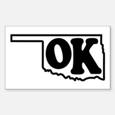 OK graphic Rectangle Decal