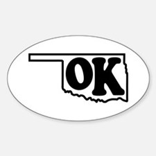 OK graphic Oval Decal