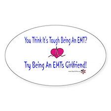 EMTs Girlfriend Oval Decal