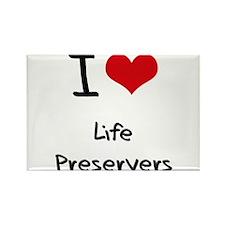 I Love Life Preservers Rectangle Magnet