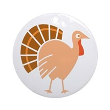Fanny Turkey Ornament (Round)