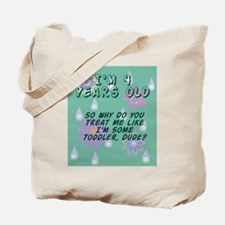 4 Year Old Birthday Gift for Boy or Girl Tote Bag