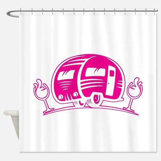 Cool Women%27s scoop neck Shower Curtain