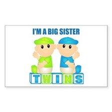 I'm A Big Sister (BBB:blk) Rectangle Decal