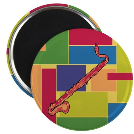 """Bass Clarinet Colorblocks 2.25"""" Magnet (10 pack)"""