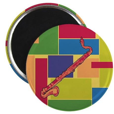 Bass Clarinet Colorblocks Magnet