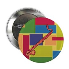 """Bass Clarinet Colorblocks 2.25"""" Button (10 pack)"""