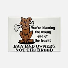 Ban Bad Owners Rectangle Magnet
