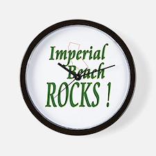 Imperial Beach Rocks ! Wall Clock