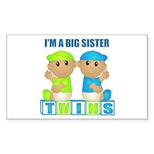 I'm A Big Sister (TBB:blk) Rectangle Decal