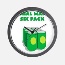A REAL MANS SIX PACK Wall Clock