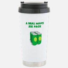 A REAL MANS SIX PACK Travel Mug