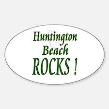 Huntington Beach Rocks ! Oval Decal