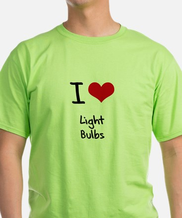 I Love Light Bulbs T-Shirt