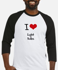 I Love Light Bulbs Baseball Jersey