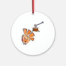 Bury Hatchet Ornament (Round)