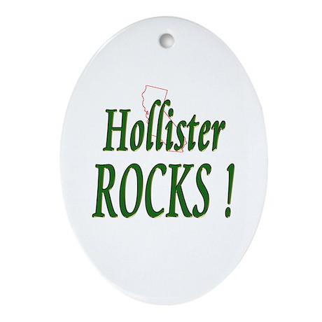 Hollister Rocks ! Oval Ornament