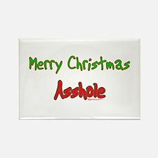 Merry Christmas Asshole -2 Rectangle Magnet