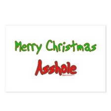 Merry Christmas Asshole -2 Postcards (Package of 8