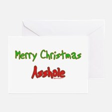 Merry Christmas Asshole -2 Greeting Cards (Package