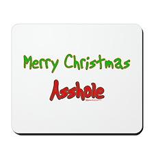 Merry Christmas Asshole -2 Mousepad