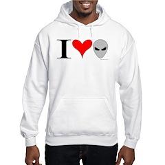 I Love Aliens Hoodie
