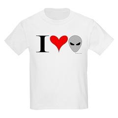 I Love Aliens Kids T-Shirt