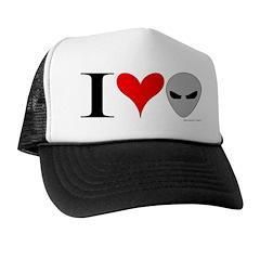 I Love Aliens Trucker Hat