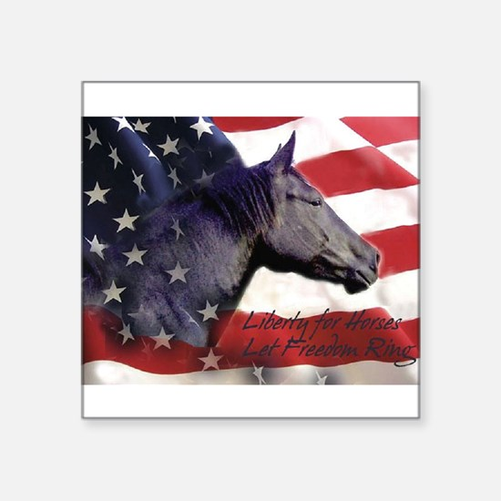 "Liberty for Horses logo Square Sticker 3"" x 3"""