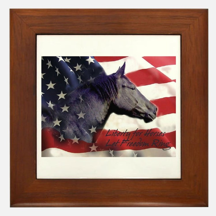 Liberty for Horses logo Framed Tile
