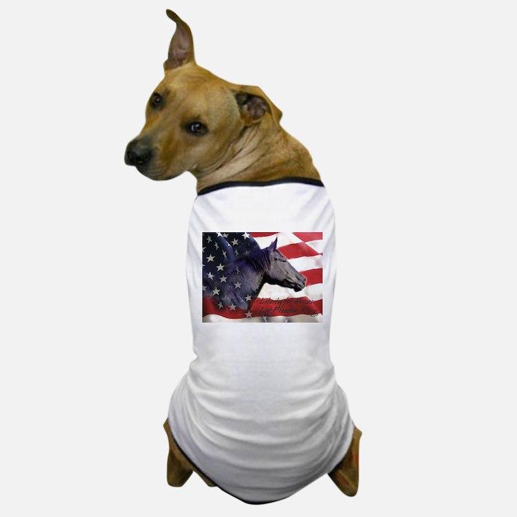 Liberty for Horses logo Dog T-Shirt