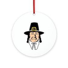 Pilgrim Father Ornament (Round)
