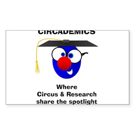 Circademic Dude-Share the Spotlight Sticker (Recta