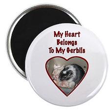 """My Heart Belongs To My Gerbils"" Magnet"