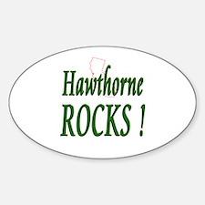 Hawthorne Rocks ! Oval Decal