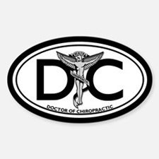 DC Oval Bumper Stickers
