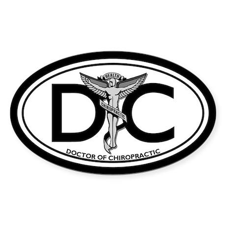 DC Oval Sticker