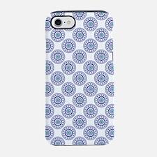 Blue Wire Lace iPhone 7 Tough Case