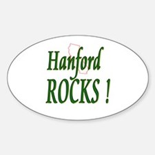 Hanford Rocks ! Oval Decal