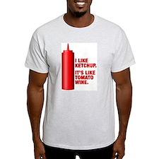 Ketchup Tomato Wine Ash Grey T-Shirt
