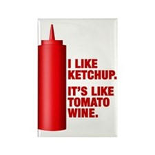 Ketchup Tomato Wine Refrigerator Magnet