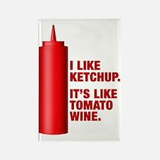 Ketchup Tomato Wine Refrigerator Magnet