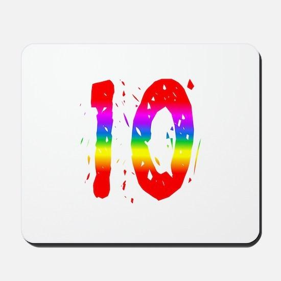 Confetti Rainbow 10 Mousepad